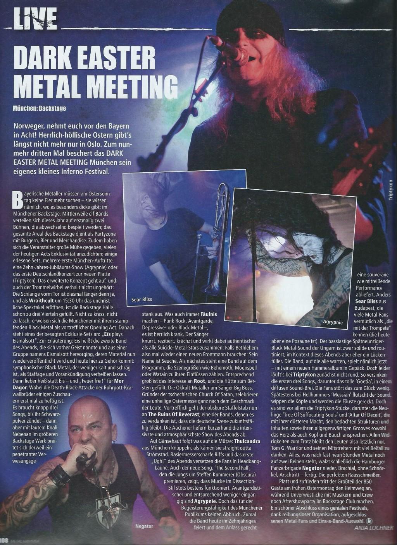 Dark Easter Metal Meeting 2014 Bericht