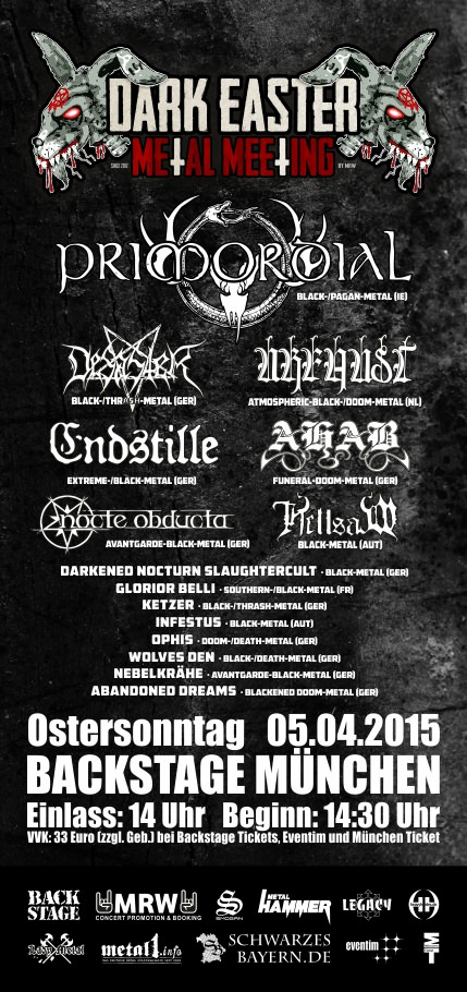 Dark Easter Metal Meeting 2015 Flyer