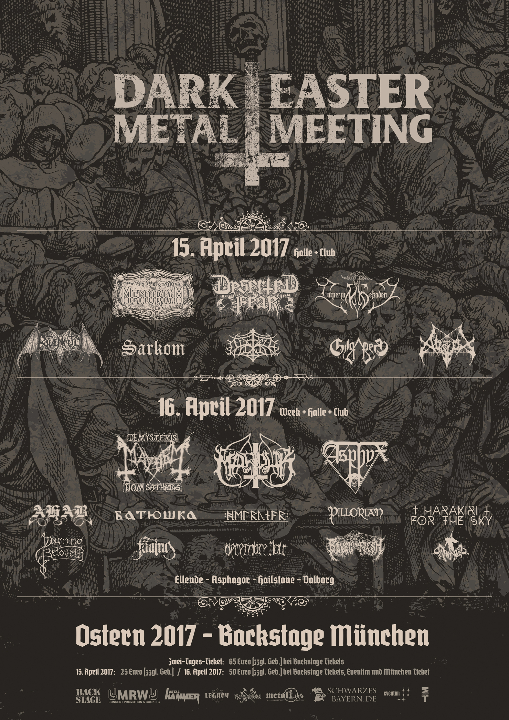 Dark Easter Metal Meeting 2017 Plakat